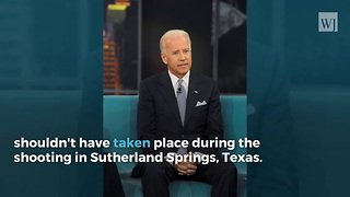 Joe Biden Says the Man Who Shot the Texas Church Shooter Shouldn't Have Had an AR-15 - Video
