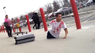 BLOODY BODY IN SUITCASE PRANK