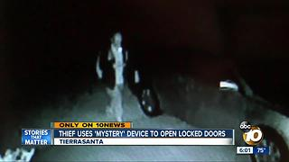 Thief uses mystery device to open locked doors - Video