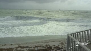 Isaias delivering waves and gusty winds to Florida's east coast