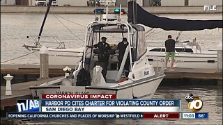Harbor PD cites charter company for violating county order