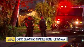 Woman missing after house fire in New Port Richey - Video