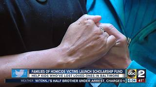 Families of homicide victims launch scholarship fund - Video
