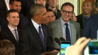 President Obama welcomes World Series champion Cubs to White House - Video