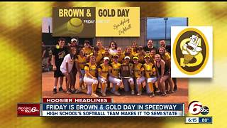 Speedway High School softball team advances to semi-state - Video