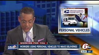 Workers using personal vehicles to make deliveries this holiday season - Video