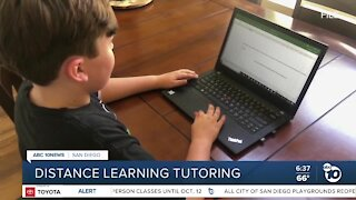 College students offer help to younger students with distance learning