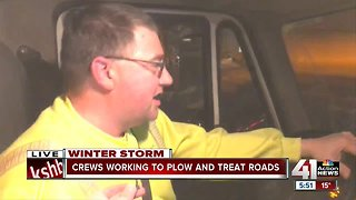 Overland Park crews done with main roads, working to clear residential streets