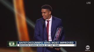 Antetokounmpo, Brogdon bring home NBA awards - Video