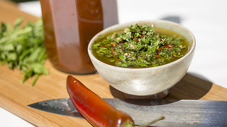 How to make classic BBQ sauce and Chimichurri - Video