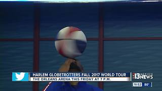 Scooter's record breaking nose spin - Harlem Globetrotters