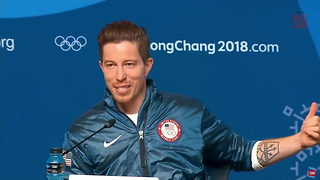 Shaun White Reacts To Winning His Third Winter Olympics Gold Medal - Video