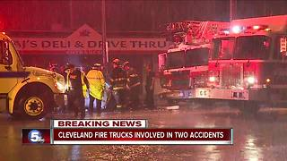 Driver dead after crashing head on into a Cleveland fire truck - Video