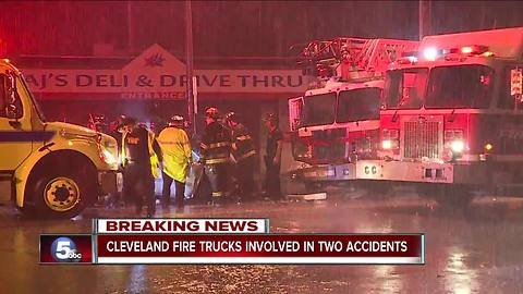 Driver dead after crashing head on into a Cleveland fire truck