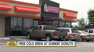 Get FREE cold brew coffee at Dunkin' Donuts today - Video