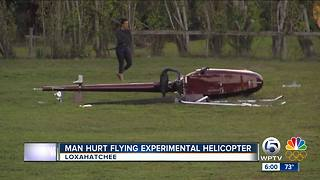 Pilot injured in experimental helicopter crash - Video