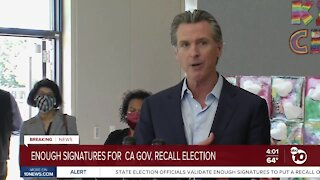 Newsom recall effort gathers enough signatures to force election