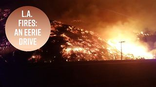 L.A. hills look like hot lava in this haunting video - Video