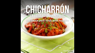 Chicharrón in Red Sauce with Nopales