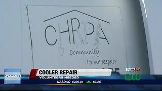 In record heat, volunteers needed to help repair coolers - Video