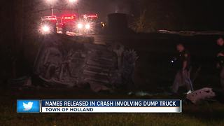 Police release names in fatal crash near Town of Holland - Video