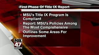 Independent review finds Michigan State Title IX policy compliant - Video