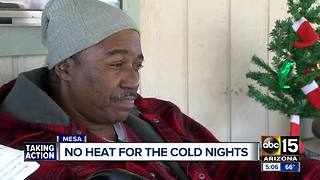 Senior community  living without heat in Mesa - Video
