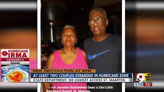 At least two local couples stranded in hurricane zone - Video