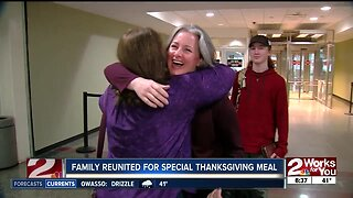 Family reunited for special Thanksgiving meal