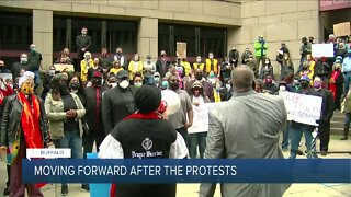 How does Buffalo move forward after the protests and violence?