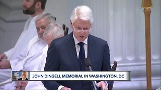 Friends, leaders remember late John Dingell at D.C. funeral service