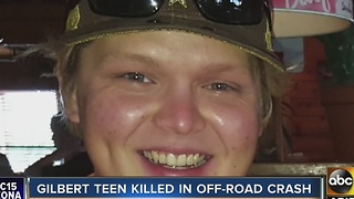 Family identifies teen killed in off-road crash as Cameron Kay