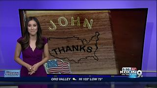 Local man builds pen holders for vets to show his gratitude for their sacrifice - Video