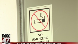 East Lansing considers smoking ban - Video