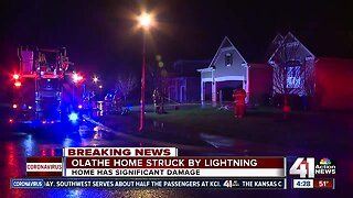 Lightning strikes Olathe home causing overnight fire