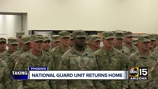 National guard unit returns home to Phoenix