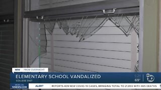 Local elementary school vandalized