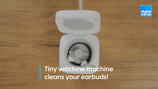 This tiny washing machine cleans your earbuds