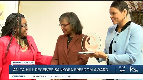 Anita Hill receives Sankofa Freedom Award