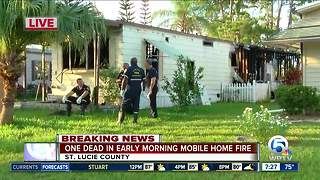 Person killed in overnight fire north of Fort Pierce - Video