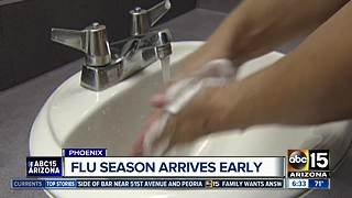 Flu season starting early in Arizona after spike of cases at the University of Arizona - Video