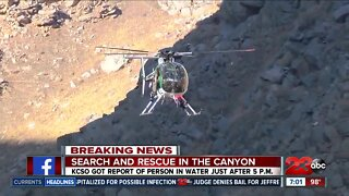 Search and Rescue in the canyon for missing person