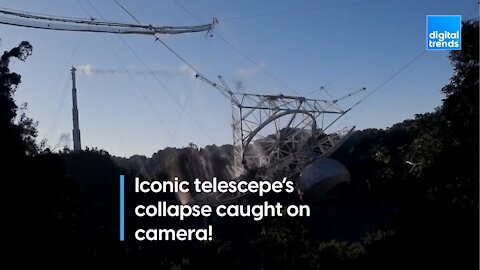 Iconic telescope collapse caught on camera!