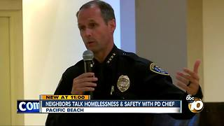 Neighbors talk homelessnes & safety with PD Chief