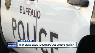 BD=PD Gives back to late Police Chief's family - Video