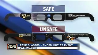 Vendor: Solar eclipse glasses distributed by UW-Milwaukee are not safe - Video