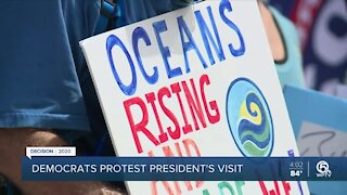 Protesters speak out against President Trump's environmental policies