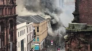 Firefighters tackle blaze in Glasgow city centre - Video