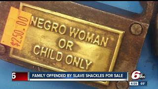Family offended by slave shackles for sale - Video