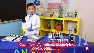 Anson Wong, boy genius, explains the biggest named numbers | Anson's Answers - Video